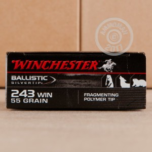 Picture of 243 WIN 55 GRAIN SUPREME BALLISTIC SILVERTIP (20 ROUNDS)