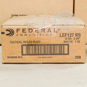 "Picture of 12 GAUGE FEDERAL LE TACTICAL 2-3/4"" GRAIN 1OZ SLUG (250 ROUNDS)"