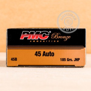 Picture of .45 ACP PMC 185 GRAIN JACKETED HOLLOW POINT (1000 ROUNDS)