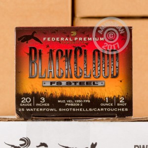 "Picture of 20 GAUGE FEDERAL BLACKCLOUD 3"" 1OZ #2 SHOT (25 ROUNDS)"