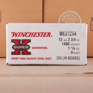 "Picture of 12 GAUGE WINCHESTER SUPER-X XPERT 2-3/4"" 1-1/8 OZ. #4 STEEL SHOT (25 ROUNDS)"