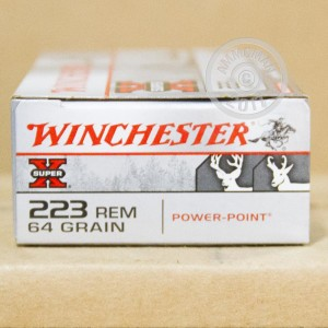 Picture of 223 REM WINCHESTER SUPER X 64 GRAIN POWER POINT (20 ROUNDS)