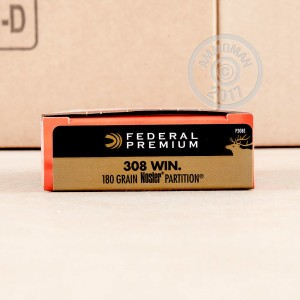 Picture of 308 WIN FEDERAL 180 GRAIN NOSLER PARTITION SP (20 ROUNDS)