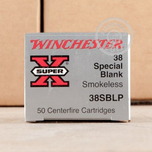Picture of 38 SPECIAL WINCHESTER SUPER X SMOKELESS BLANKS (50 ROUNDS)