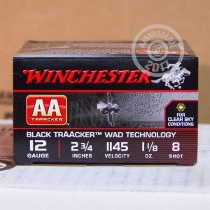 "Picture of 12 GAUGE WINCHESTER AA TRAACKER 2-3/4"" 1-1/8 OZ. #8 SHOT (25 ROUNDS)"