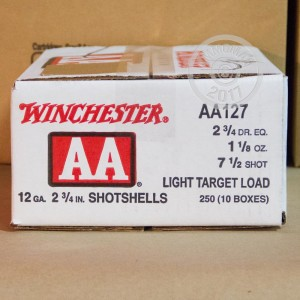 "Picture of 12 GAUGE WINCHESTER AA LIGHT TARGET 2-3/4"" #7.5 SHOT (25 ROUNDS)"
