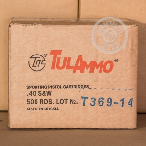 Picture of 40 S&W TULA 180 GRAIN FMJ (50 ROUNDS)