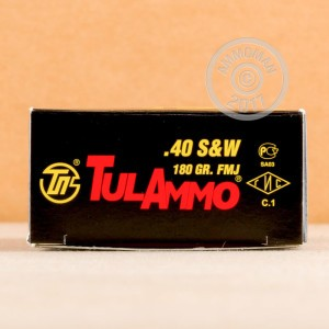 Image of .40 Smith & Wesson ammo by Tula Cartridge Works that's ideal for training at the range.