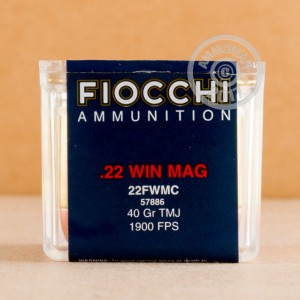 Picture of .22 WMR FIOCCHI 40 GRAIN TMJ (50 ROUNDS)