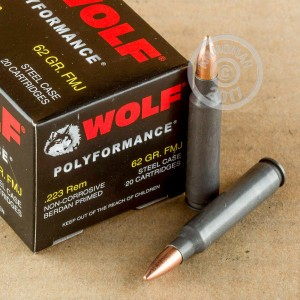 Picture of .223 WOLF 62 GRAIN FULL METAL JACKET (500 ROUNDS)