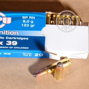 Picture of 7.62X39MM 123 GRAIN PRVI PARTIZAN SP (1000 ROUNDS)