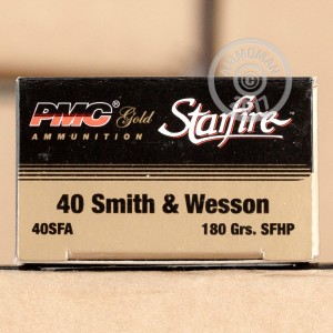 Picture of .40 S&W PMC STARFIRE 180 GRAIN JHP (20 ROUNDS)