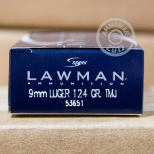 Picture of 9MM LUGER SPEER LAWMAN 124 GRAIN TMJ (50 ROUNDS)
