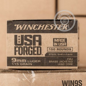 Picture of 9MM LUGER WINCHESTER USA FORGED 115 GRAIN FMJ (750 ROUNDS)