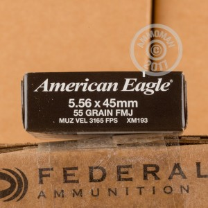 Picture of 5.56x45 FEDERAL 55 GRAIN FMJ XM193 (500 ROUNDS)