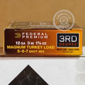 "Picture of 12 GAUGE FEDERAL 3RD DEGREE TURKEY 3"" #5/6/7 SHOT (5 ROUNDS)"