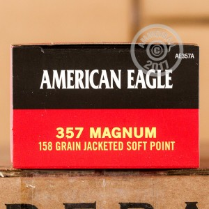 Picture of .357 MAGNUM FEDERAL AMERICAN EAGLE 158 GRAIN JSP (1000 ROUNDS)