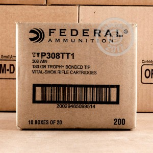 Picture of 308 WIN FEDERAL VITAL-SHOK 180 GRAIN TROPHY BONDED TIP (20 ROUNDS)