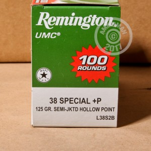 Picture of .38 SPECIAL +P REMINGTON UMC 125 GRAIN SJHP (600 ROUNDS)