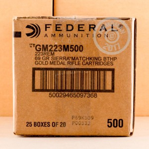 Picture of .223 FEDERAL MATCH 69 GRAIN #GM223M (200 ROUNDS)