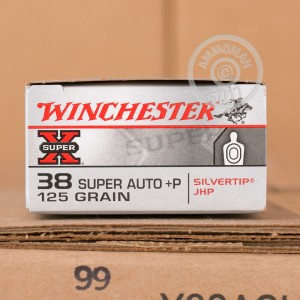 Picture of 38 SUPER +P WINCHESTER 125 GRAIN SILVERTIP JHP (50 ROUNDS)