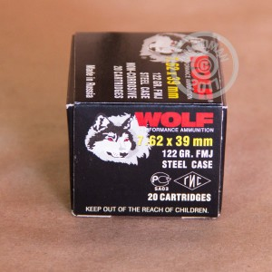 Picture of 7.62x39MM WOLF 122 GRAIN FULL METAL JACKET (20 ROUNDS)