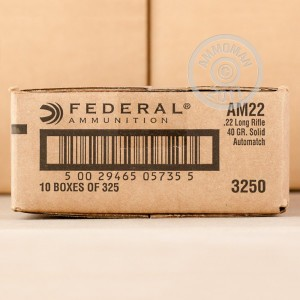 Picture of 22 LR FEDERAL AUTOMATCH TARGET 40 GRAIN LRN (3250 ROUNDS)