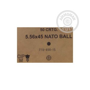 Picture of 5.56X45MM LITHUANIAN SURPLUS SS109 62 GRAIN FMJ (50 ROUNDS)