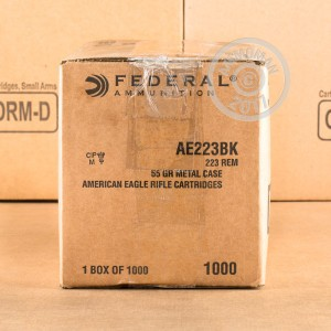 Picture of 223 Rem FEDERAL AMERICAN EAGLE  55 GRAIN FMJBT (1000 ROUNDS)