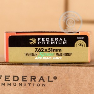 Picture of 7.62 NATO FEDERAL GOLD MEDAL MATCH 175 GRAIN BTHP (500 ROUNDS)