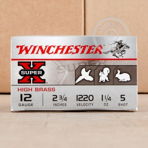 "Picture of 12 GAUGE WINCHESTER SUPER-X 2-3/4"" 1-1/4 OZ. #5 SHOT (25 ROUNDS)"
