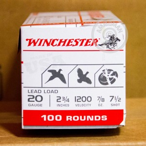"Picture of 20 GAUGE WINCHESTER USA GAME & TARGET 2-3/4"" 7/8 OZ. #7.5 (100 ROUNDS)"