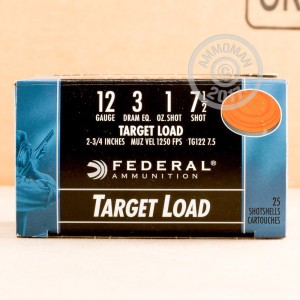 "Picture of 12 GAUGE FEDERAL TARGET LOAD 2 3/4"" 1 OZ. #7.5 SHOT (25 ROUNDS)"