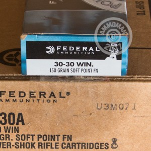 Picture of 30-30 - 150 Grain SP Flat Nose - Federal Power-Shok - 200 Rounds