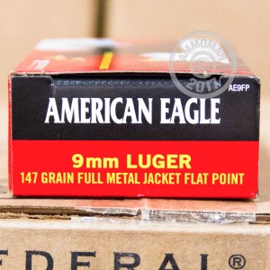 Picture of 9MM FEDERAL 147 GRAIN FULL METAL JACKET (1000 ROUNDS)