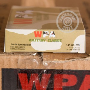 Picture of 30-06 SPRINGFIELD WOLF MILITARY CLASSIC 145 GRAIN FMJ (20 ROUNDS)
