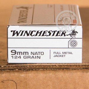 Picture of 9MM WINCHESTER 124 GRAIN FULL METAL JACKET (500 ROUNDS)