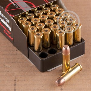 A photograph of 50 rounds of 110 grain 38 Special ammo with a frangible bullet for sale.