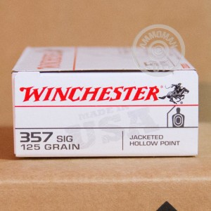 Picture of 357 SIG WINCHESTER USA 125 GRAIN JHP (500 ROUNDS)