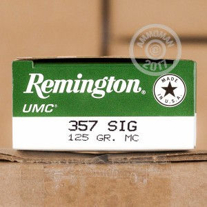 Picture of 357 SIG REMINGTON UMC 125 GRAIN MC (50 ROUNDS)