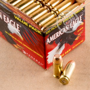 Picture of 40 S&W FEDERAL AMERICAN EAGLE 180 GRAIN FMJ (100 ROUNDS)