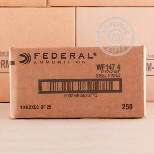 Picture of 12 GAUGE FEDERAL SPEED-SHOK WAFERFOWL 2-3/4 1-1/8 OZ #4 STEEL SHOT (25 ROUNDS)