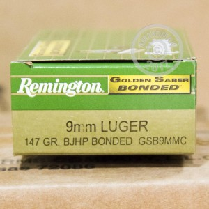 Picture of 9MM LUGER REMINGTON GOLDEN SABER 147 GRAIN JHP (500 ROUNDS)