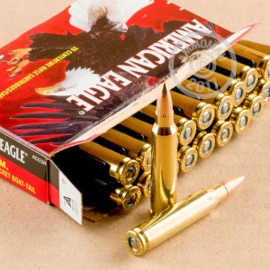 Picture of 223 REMINGTON FEDERAL AMERICAN EAGLE 62 GRAIN FMJBT (500 ROUNDS)