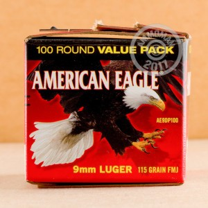 Picture of 9MM LUGER FEDERAL AMERICAN EAGLE 115 GRAIN FMJ (500 ROUNDS)