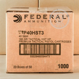 Picture of 40 S&W FEDERAL HST 165 GRAIN JHP (50 ROUNDS)