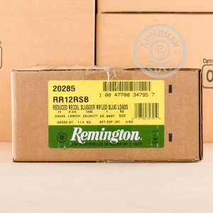 "Picture of 12 GAUGE REMINGTON SLUGGER MANAGED RECOIL 2-3/4"" 1OZ (5 ROUNDS)"