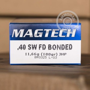 Picture of 40 S&W MAGTECH BONDED 180 GRAIN JHP (50 ROUNDS)