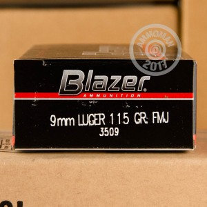 Picture of 9MM LUGER CCI BLAZER 115 GRAIN FMJ (1000 ROUNDS)