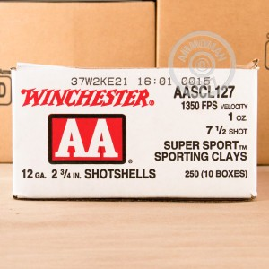 "Picture of 12 GAUGE WINCHESTER AA SPORTING CLAYS 2 3/4"" 1 OZ #7.5 SHOT (25 ROUNDS)"